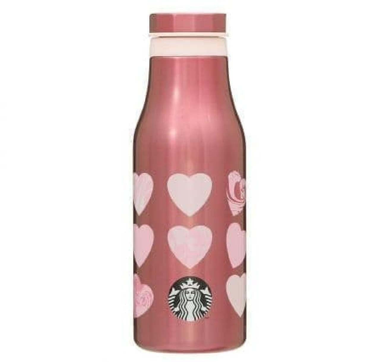スターバックス「バレンタイン2021ステンレスボトルマーブルハート473ml」