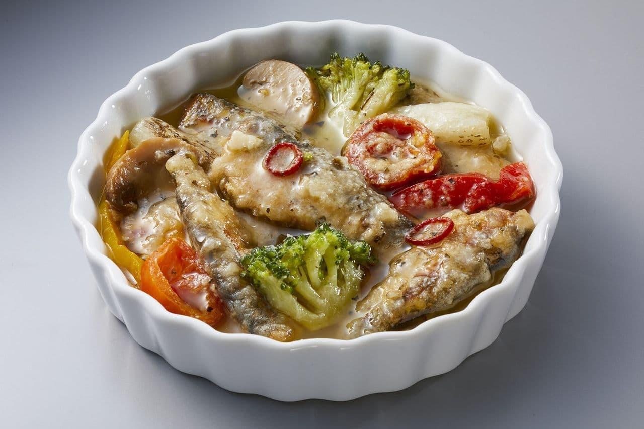 ローソン「オイルサーディンと5種野菜のアヒージョ」