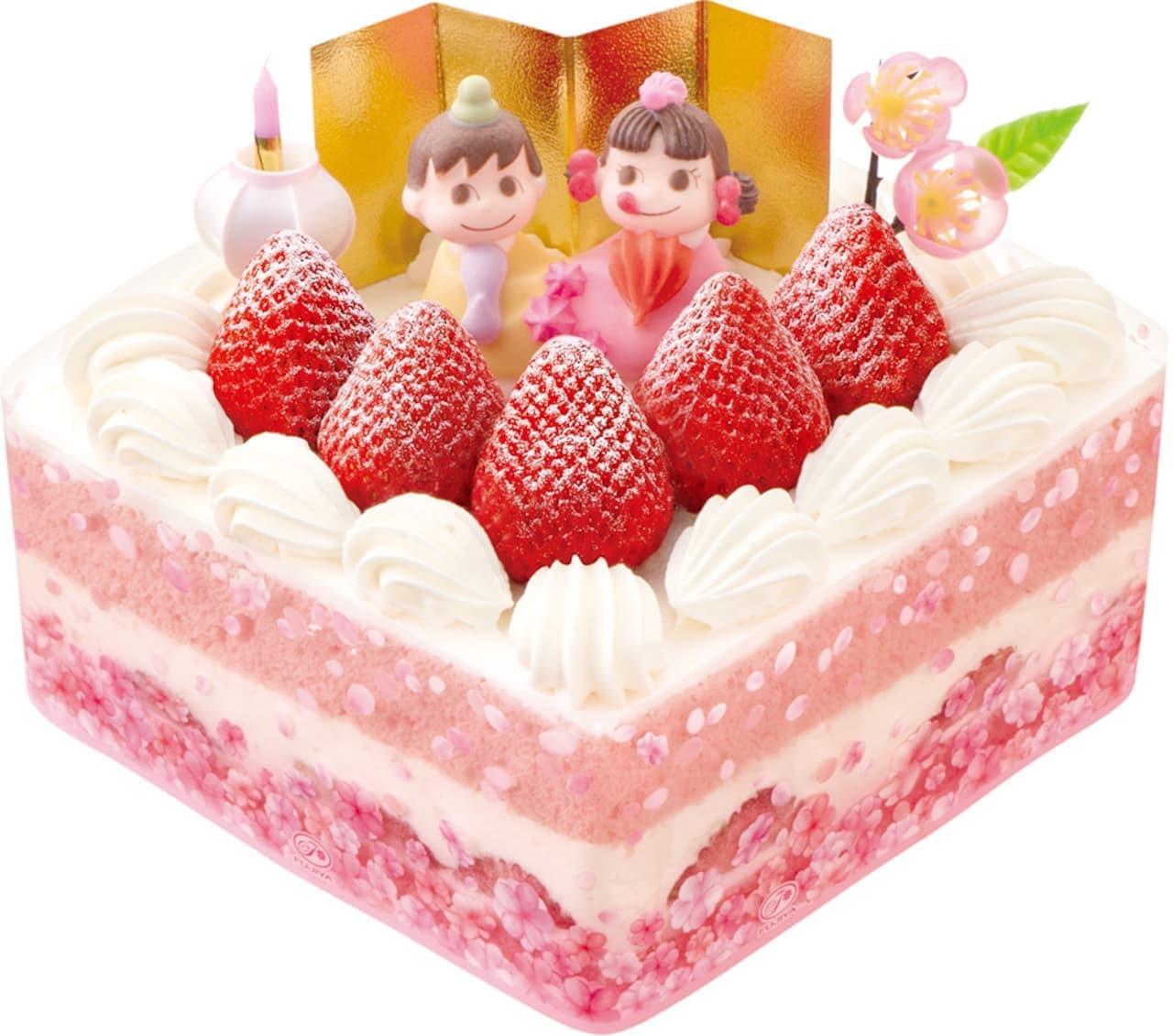 不二家「ひなまつり」ケーキ