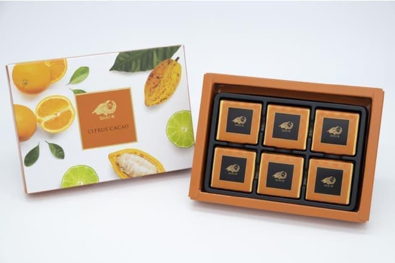 セブン-イレブン「Dari K」の「シトラスカカオ」チョコレート(6枚入)