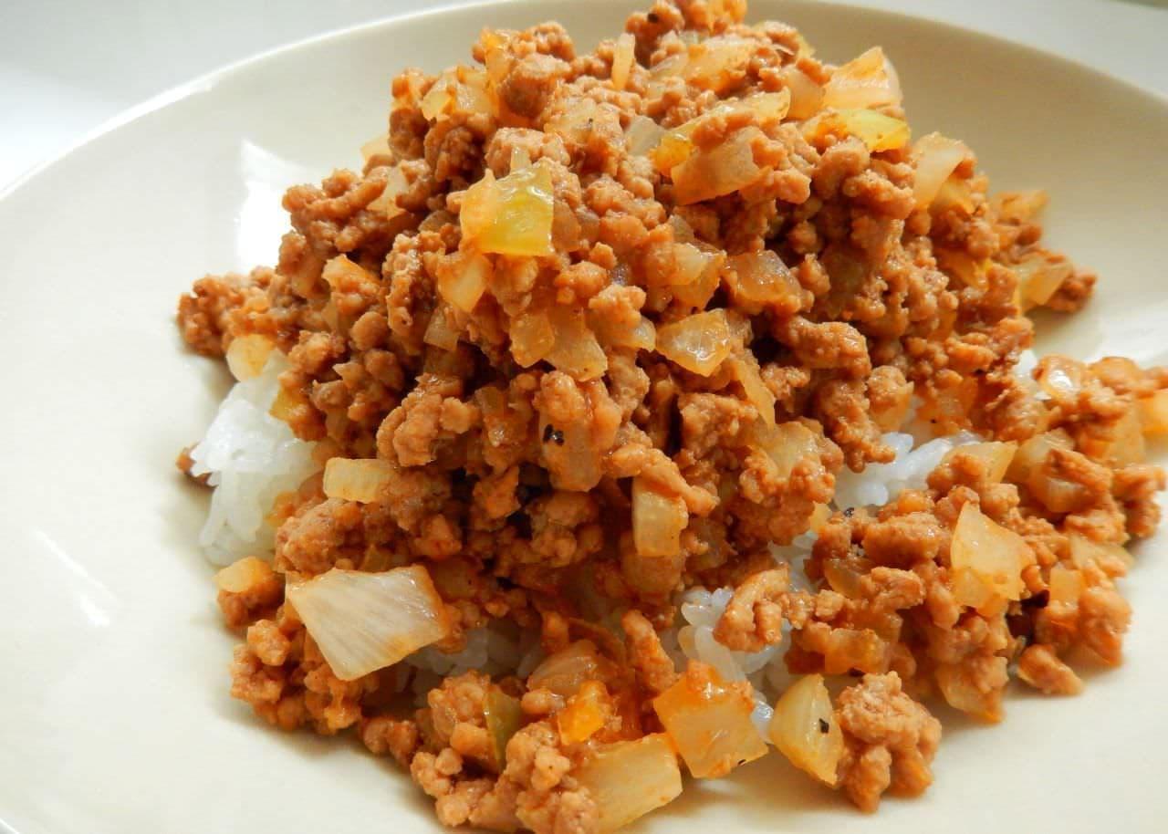 レシピ「炒めハンバーグ丼」