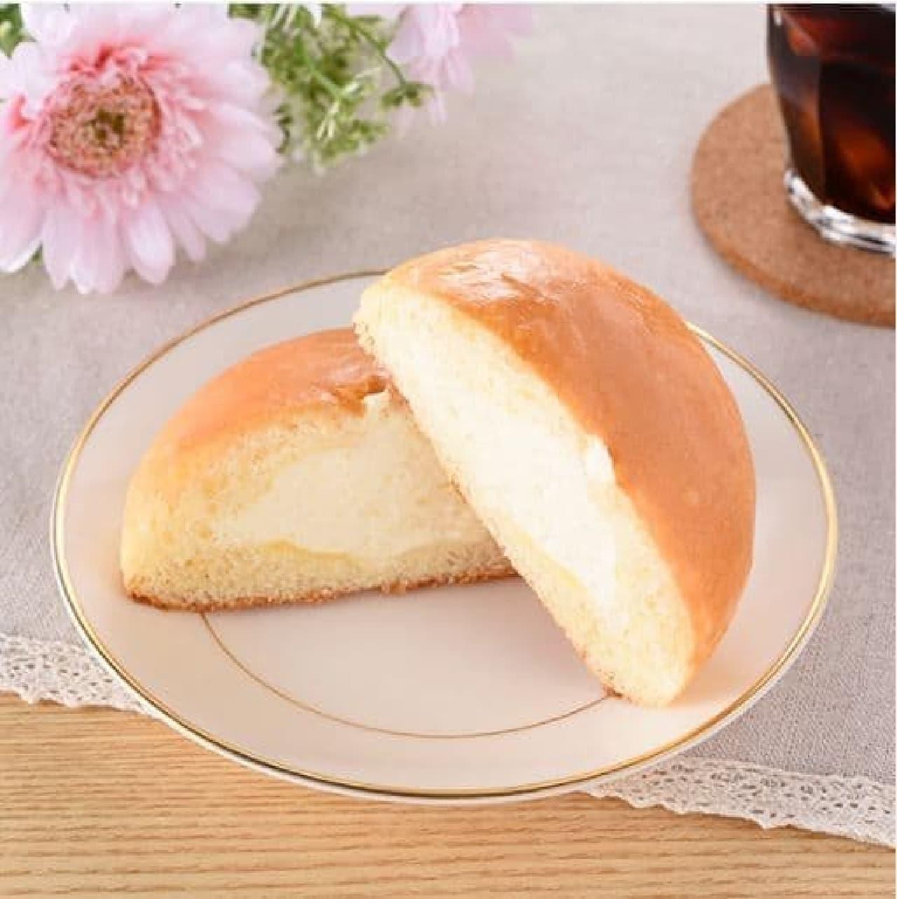 ファミリーマート「冷やして食べるこだわりなめらかクリームパン」