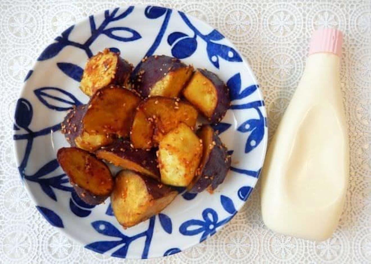 「揚げない大学芋」のレシピ