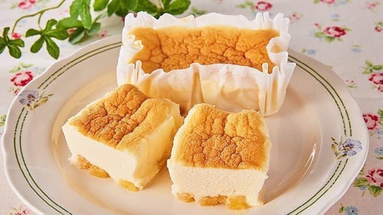 ローソンストア100「たっぷりりんごのスフレチーズケーキ」