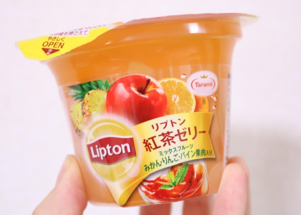 実食「リプトン紅茶ゼリー ミックスフルーツ」