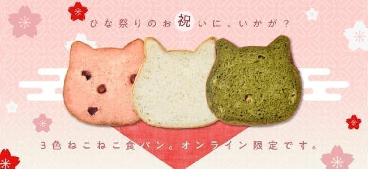 3色ねこねこ食パンセット