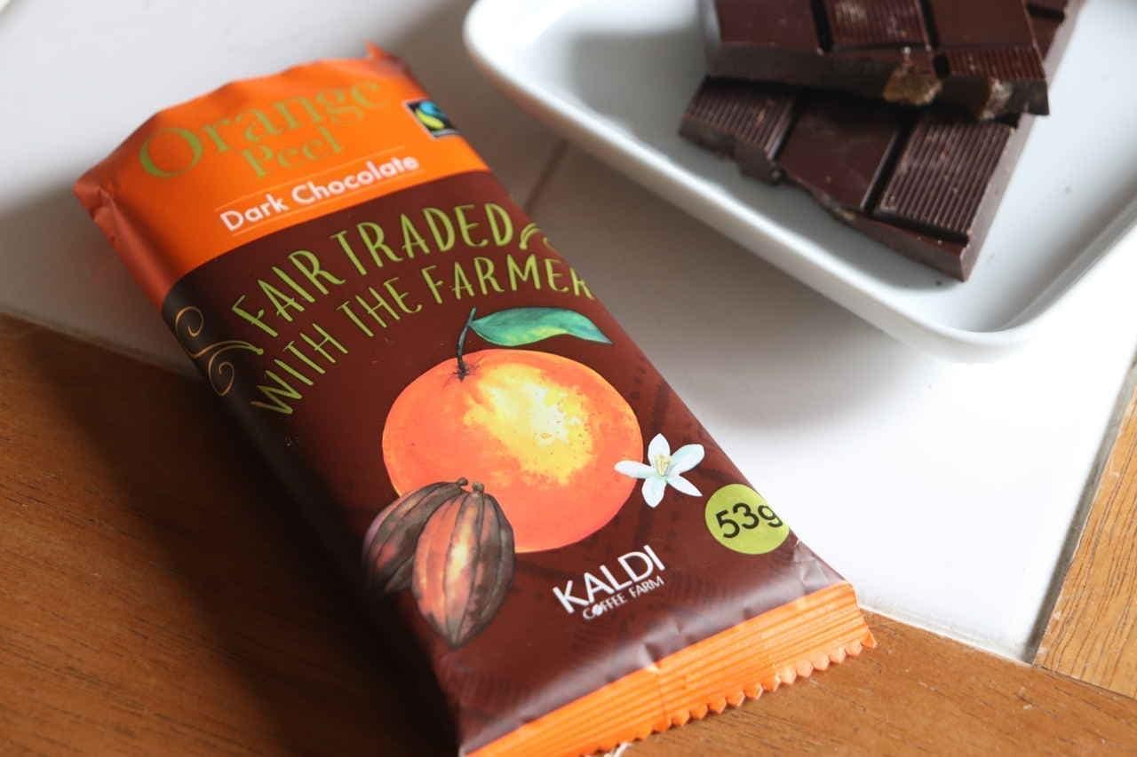 実食「フェアトレードチョコレートオレンジピール」