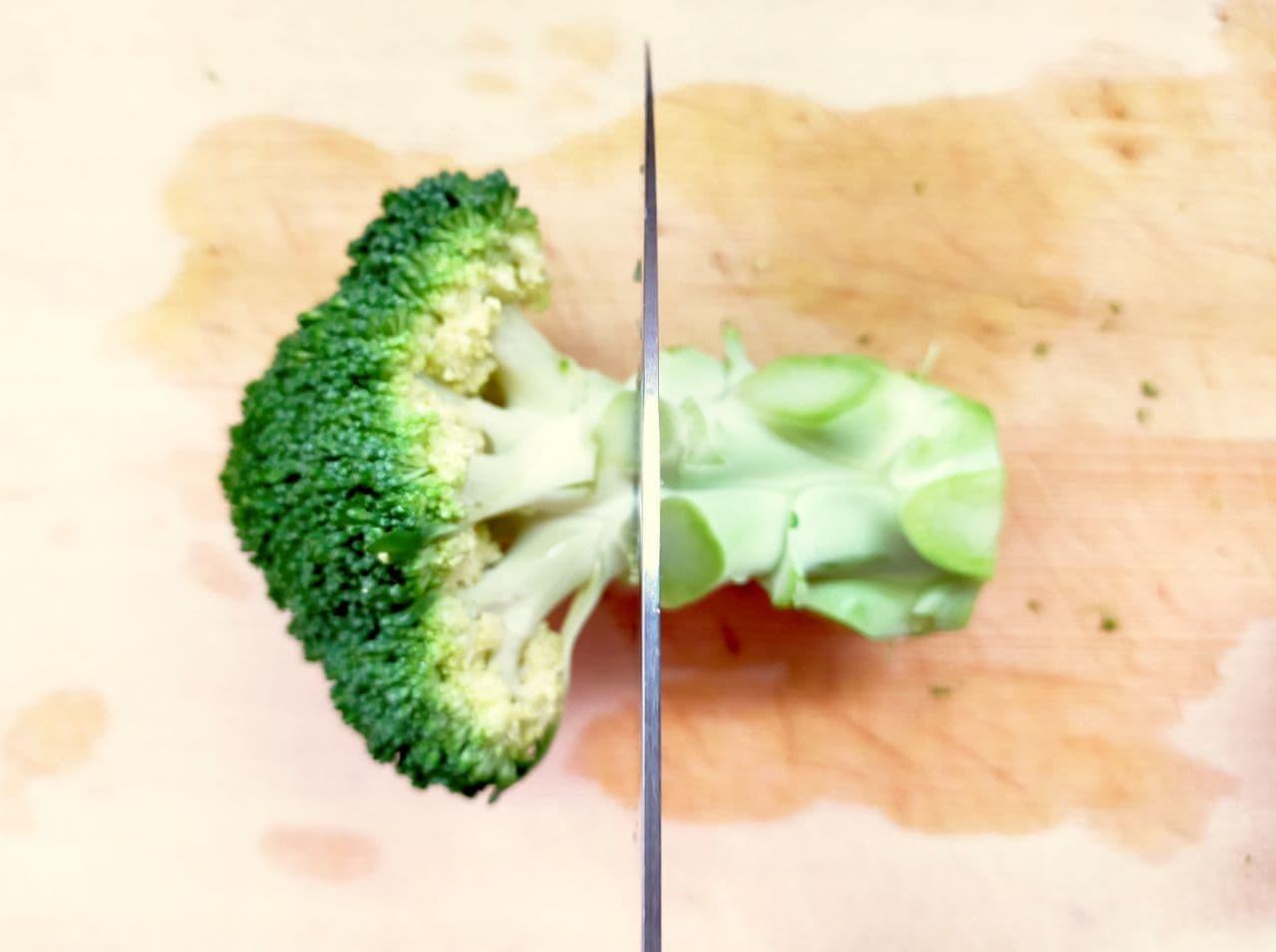 ブロッコリーの切り方