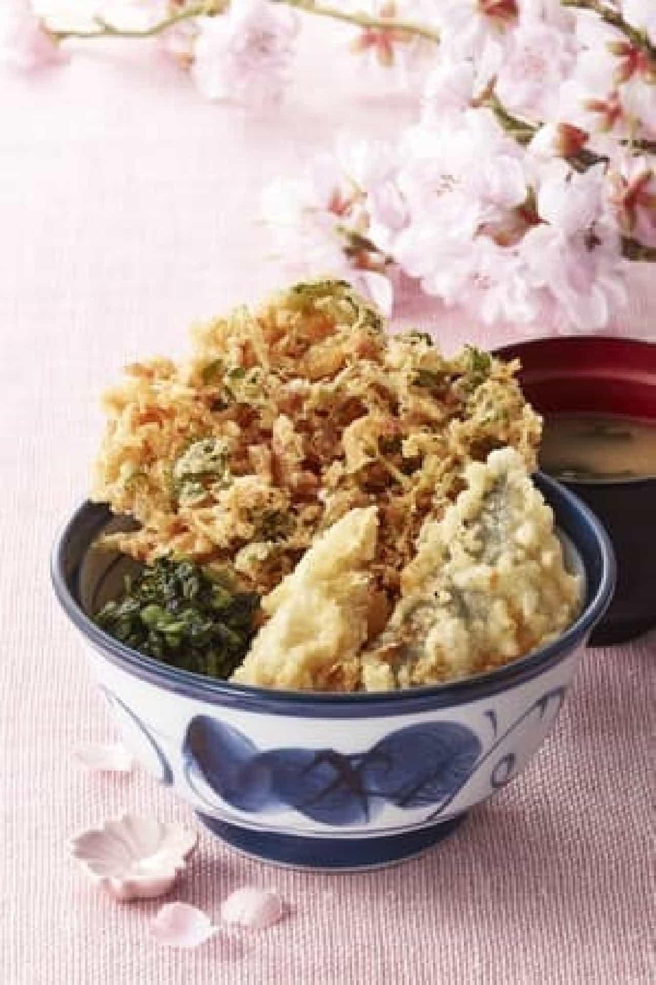 てんや春の「桜海老天丼」