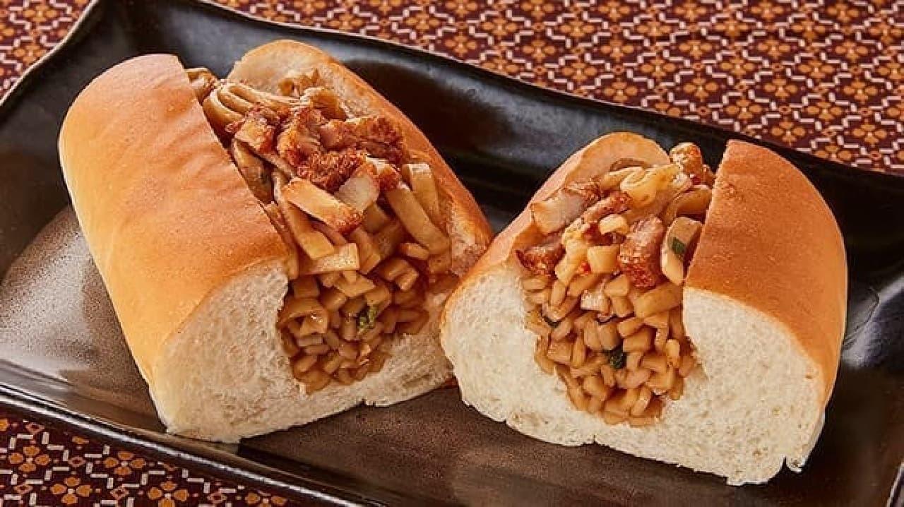 ローソンストア100「油そば麺麭(ぱん)」
