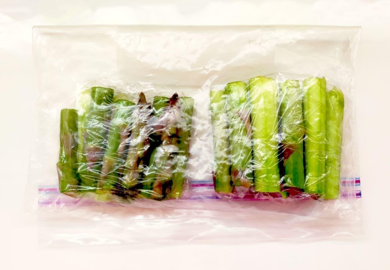 アスパラの冷凍保存方法