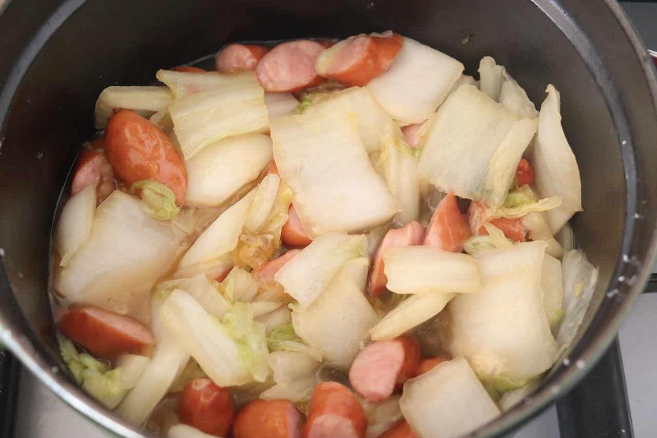 白菜&ウインナー中華煮