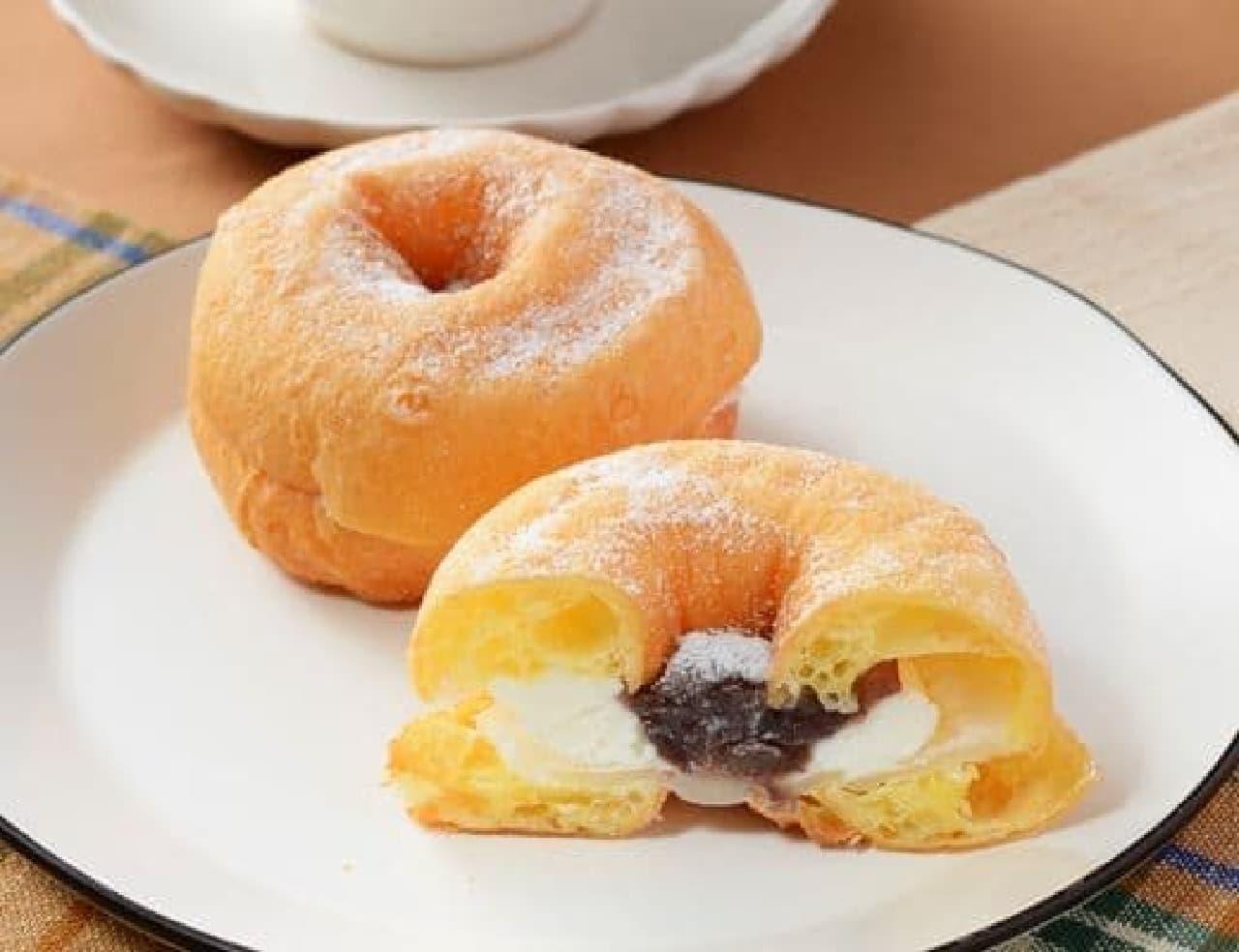 ローソン「モフリン -もちふわリングドーナツ あんバター-」