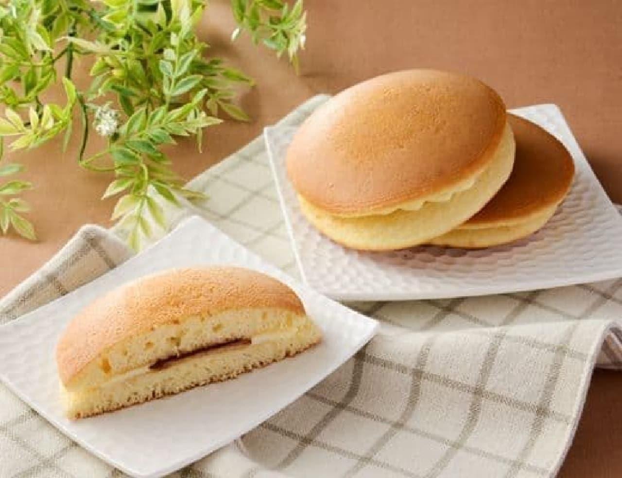ローソン「ふわふわホットケーキ 国産小麦粉使用 2個入」