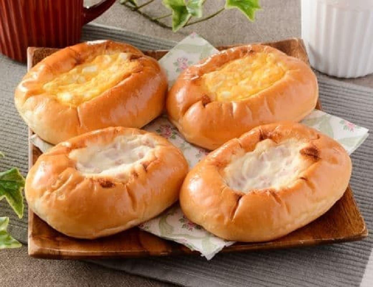 ローソン「ハムとたまごパン 4個入」