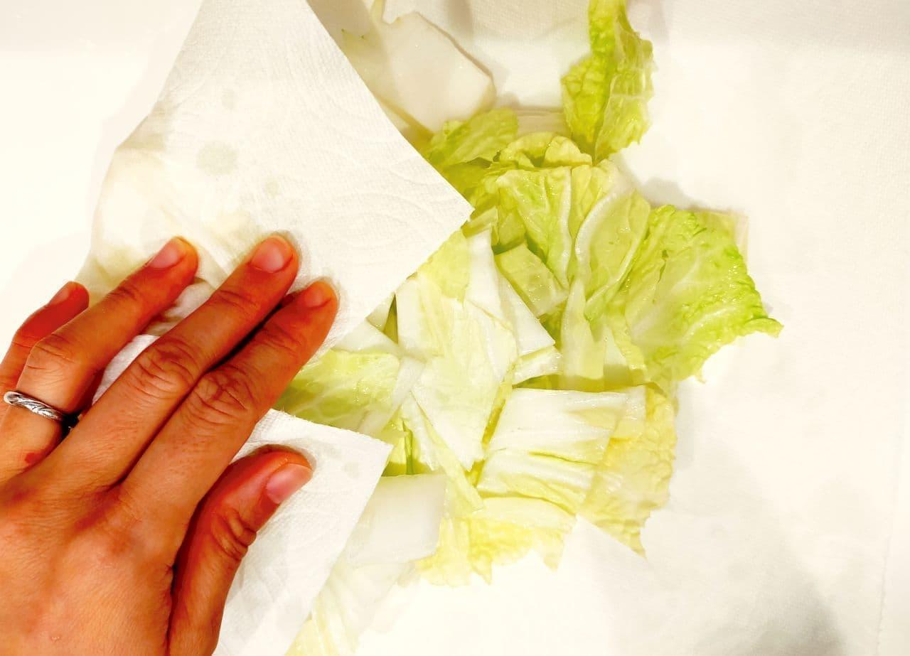 ステップ2 白菜の冷凍保存方法