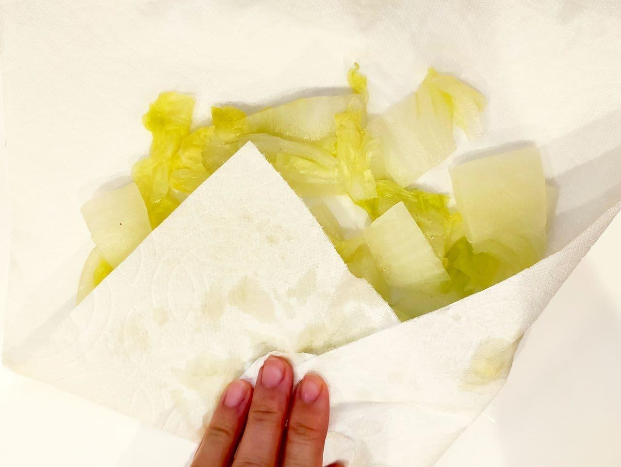 ステップ5 白菜の冷凍保存方法