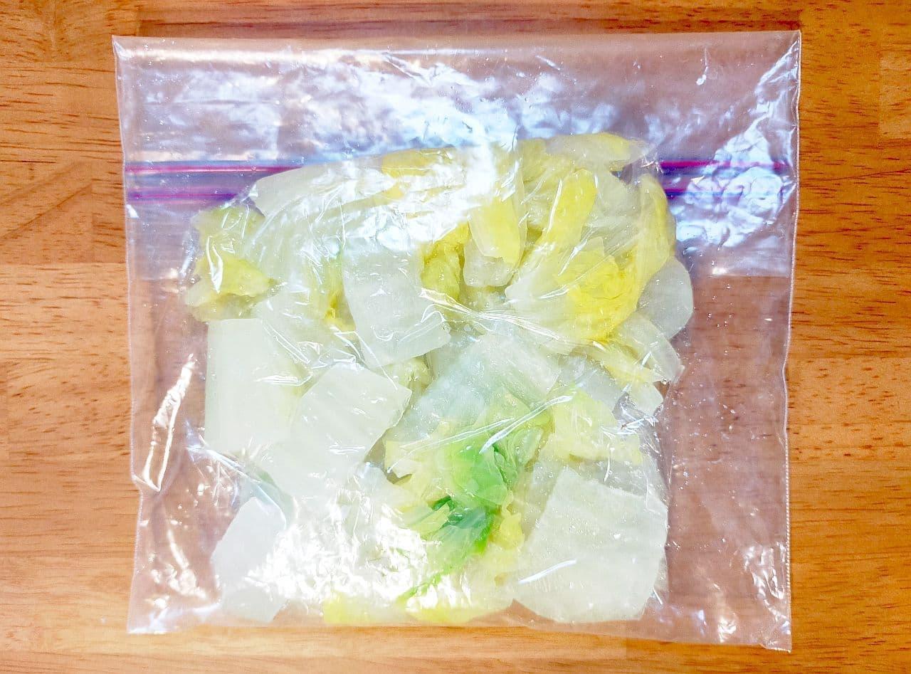 白菜の冷凍保存方法