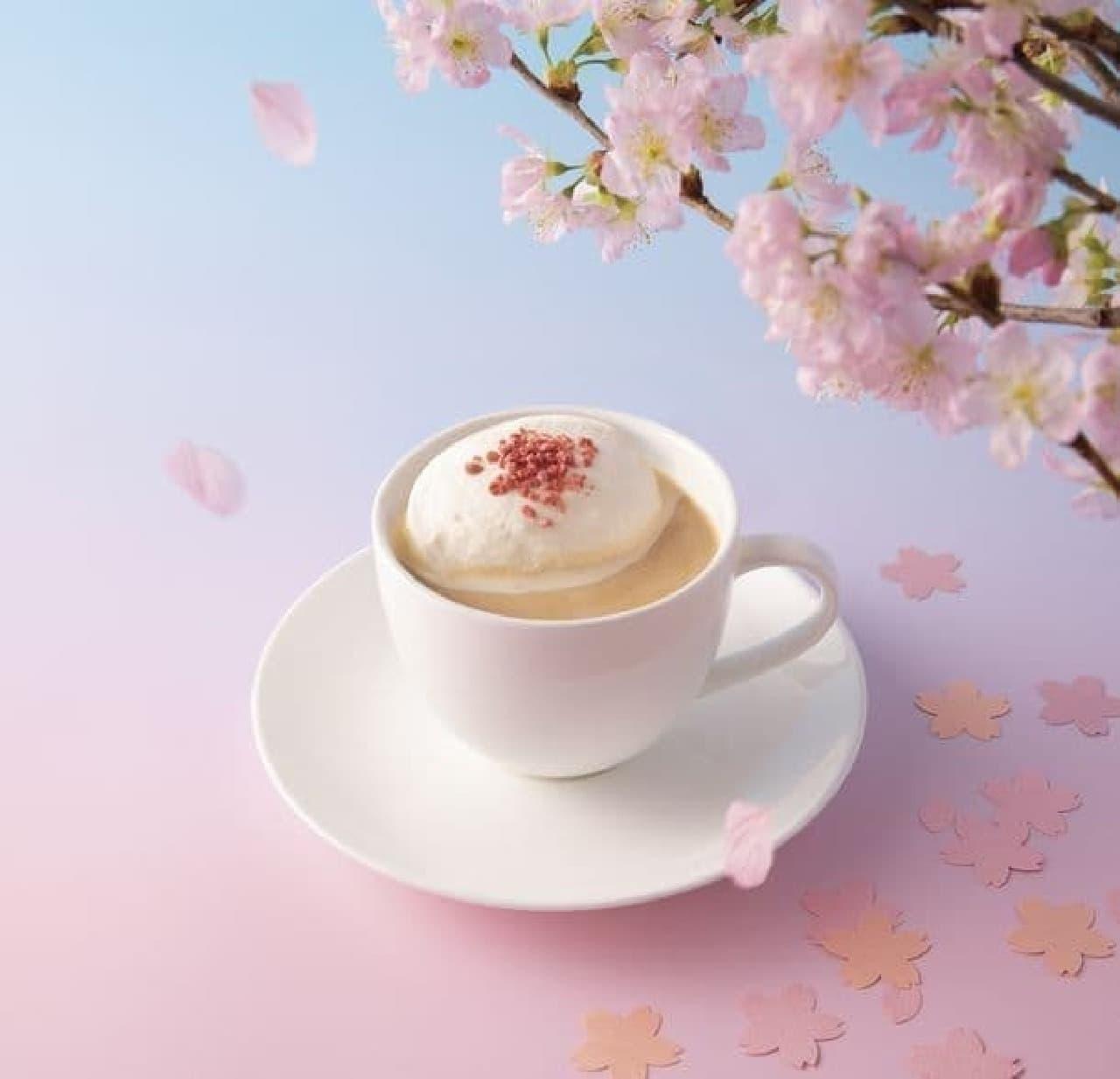 上島珈琲店「山桜のミルク珈琲」「苺ミルク」