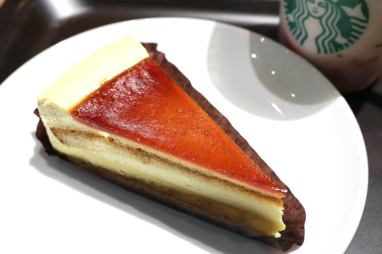 スタバ「カスタードプリンケーキ」