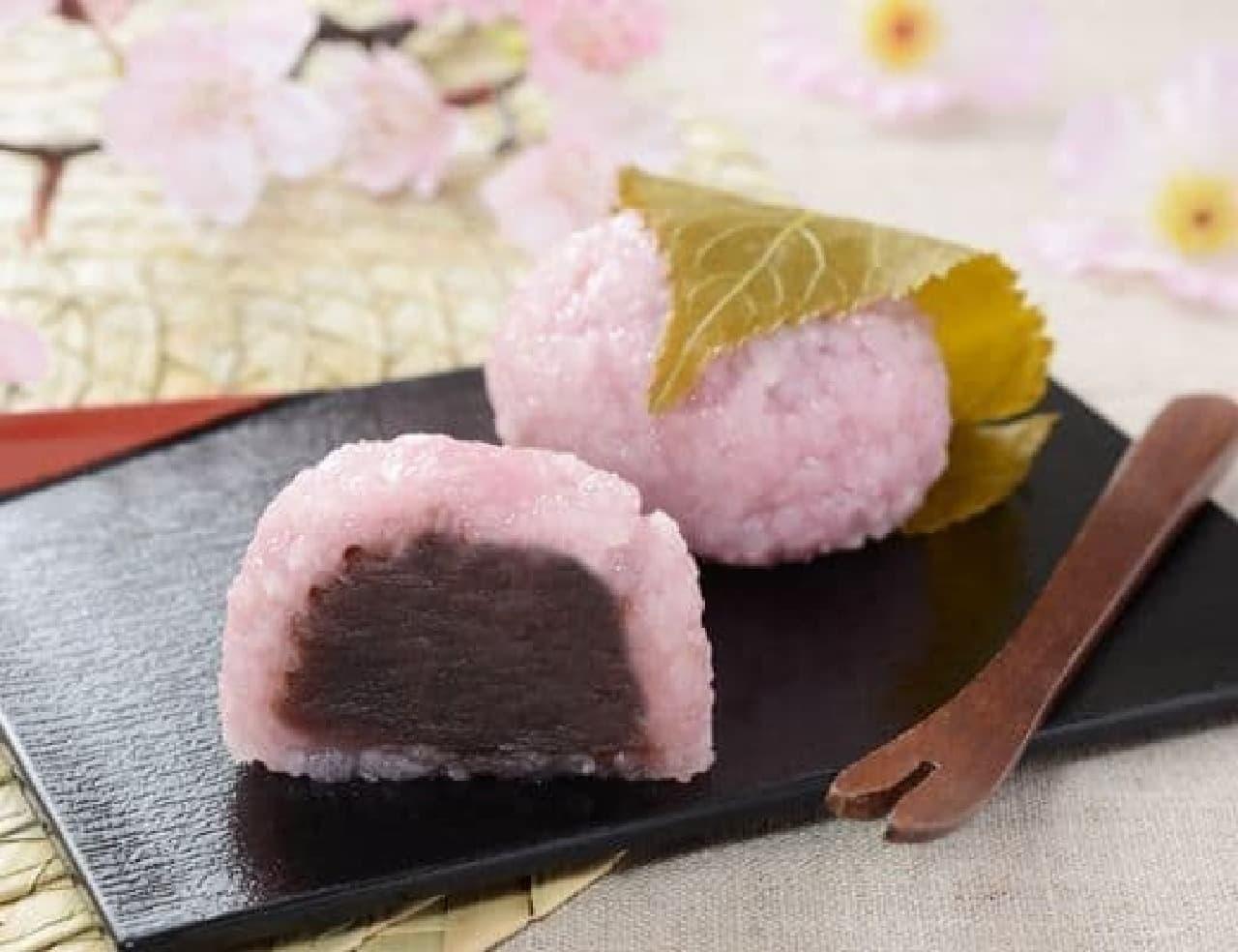 ローソン「桜餅(こしあん)」