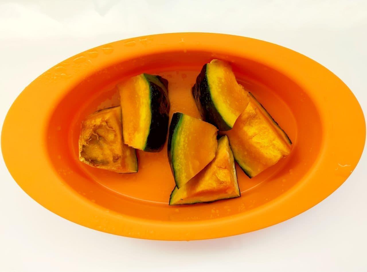 レンジで簡単かぼちゃプリンのレシピ
