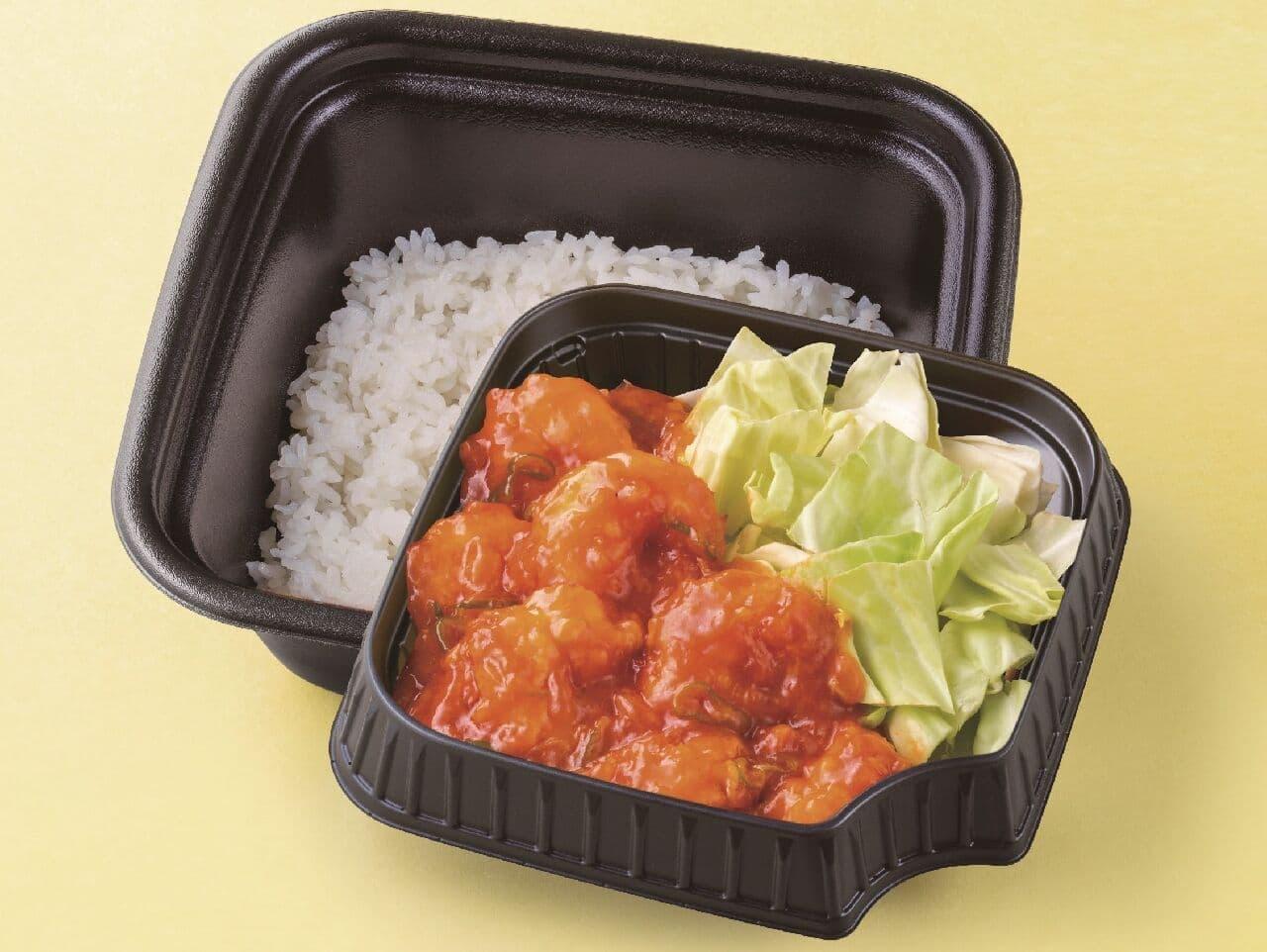 れんげ食堂Toshu・中華東秀「海老のチリソース弁当」