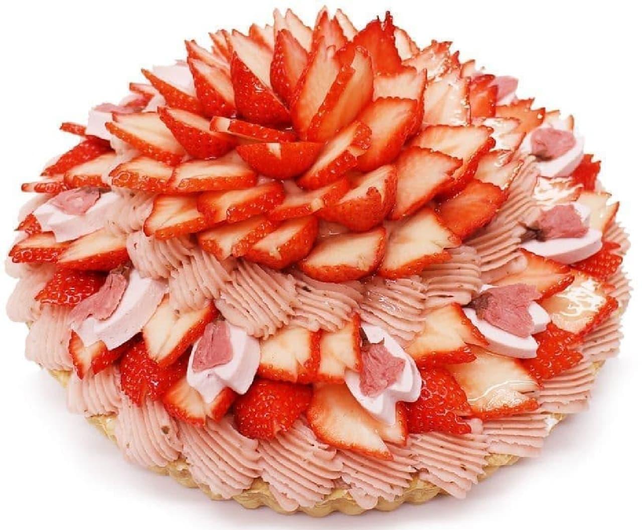 カフェコムサ「満開-いちごと桜のケーキ-」