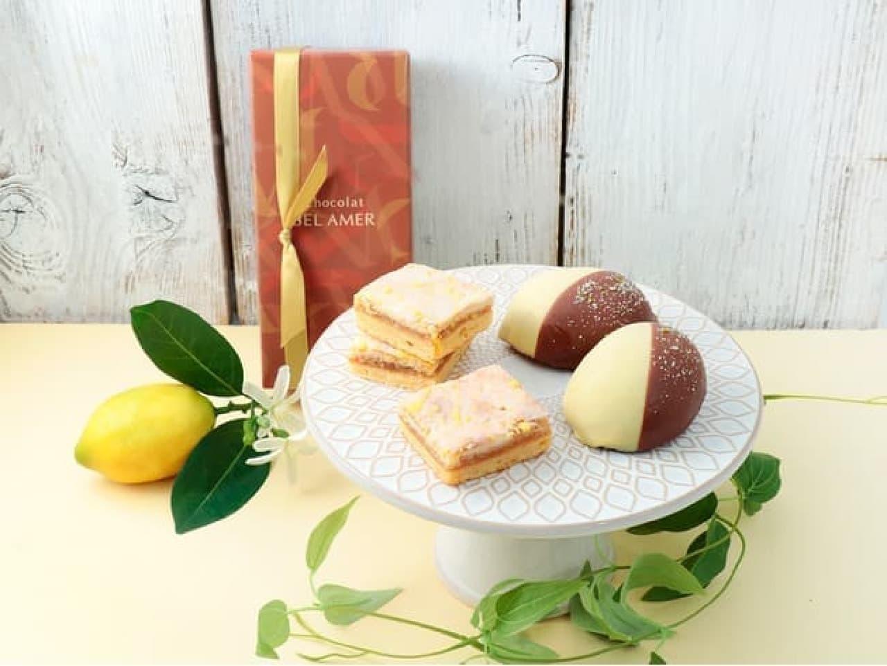 ベルアメール「レモンチーズケーキ 5コ」「レモンケーキアソート」