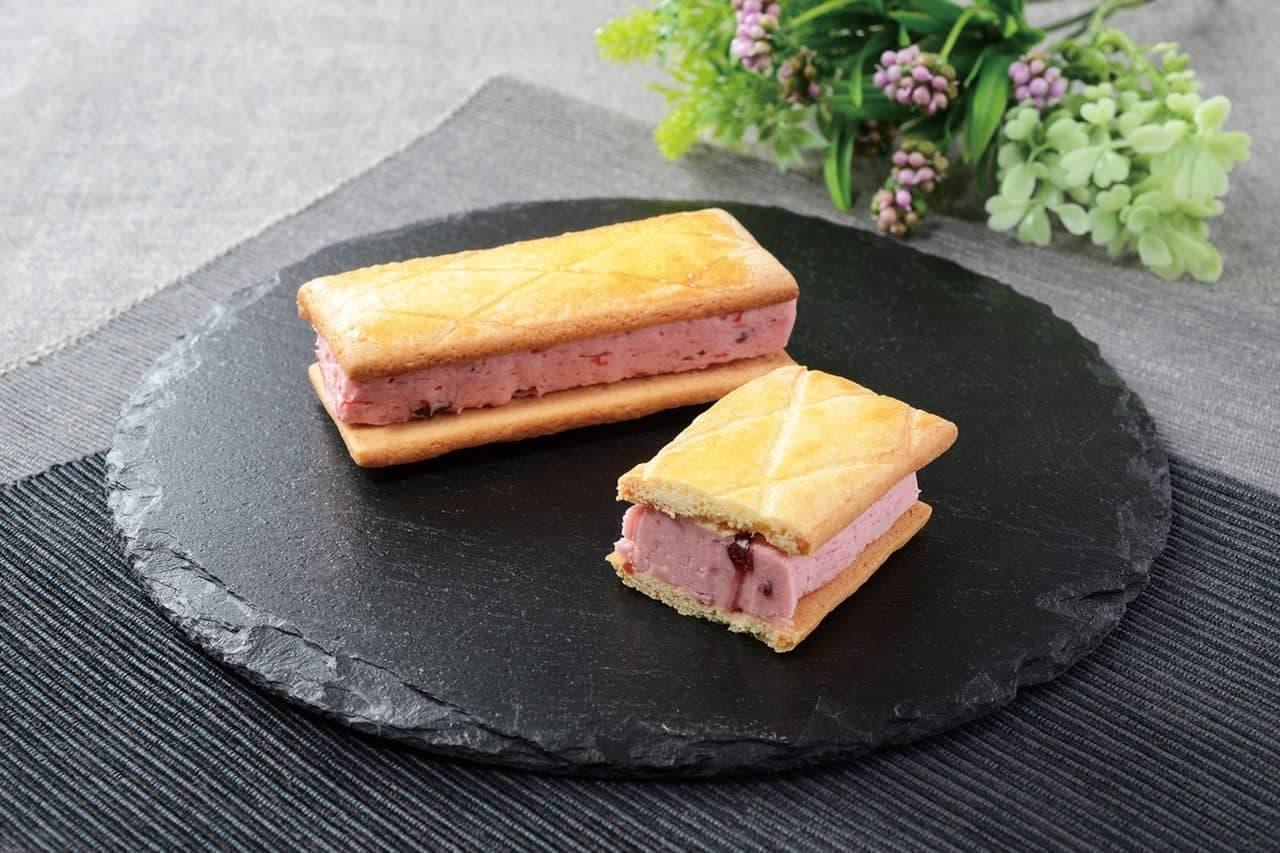 ローソン「Uchi Cafe Specialite 華いろいちごバタービスキュイサンド」