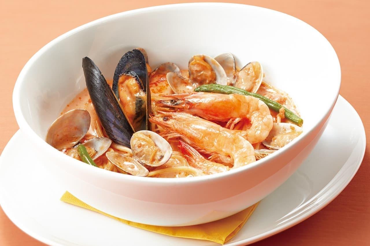 ココス「海の幸のビスクスープスパゲッティ」