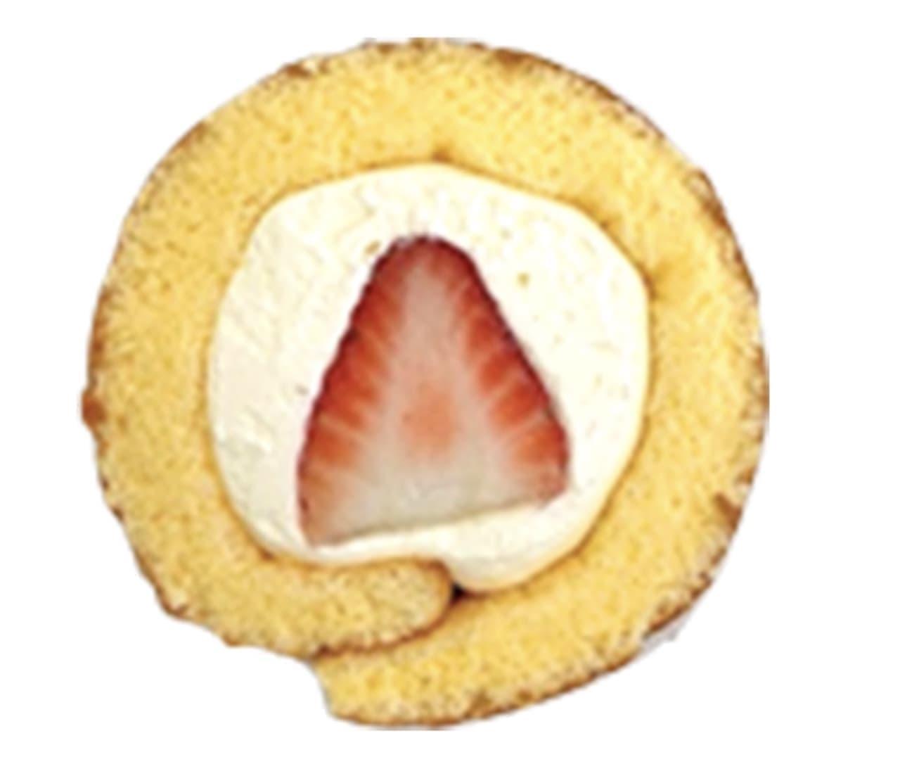 シャトレーゼ「北海道産マスカルポーネ使用 苺ロール」