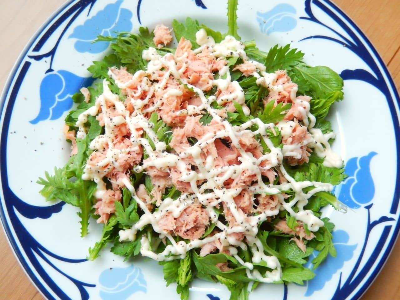 「生春菊とツナマヨのサラダ」の簡単レシピ