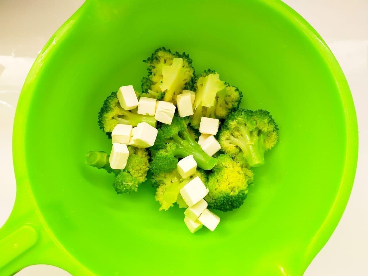 レシピ「ブロッコリーのクリームチーズ和え」