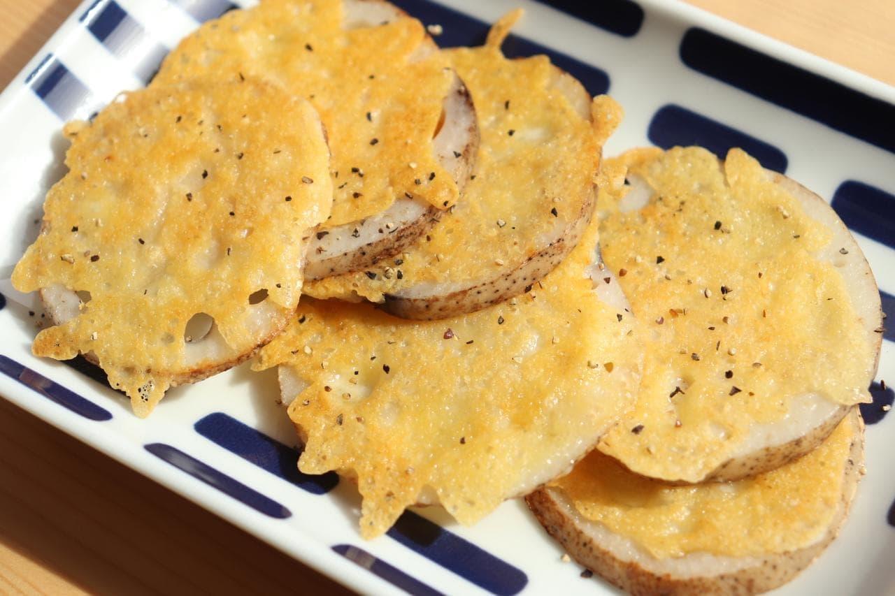 「れんこんのカリカリチーズ焼き」レシピ