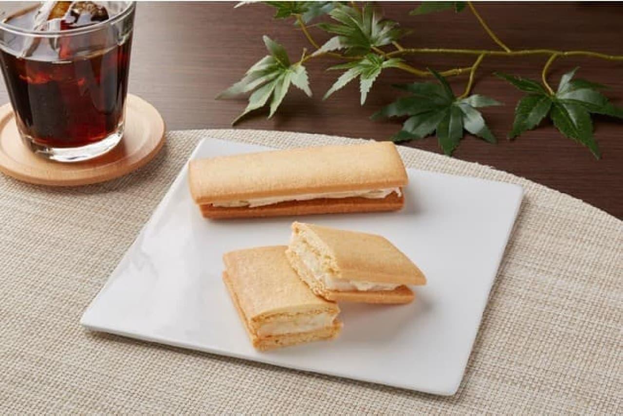 ファミリーマート「羽二重餅をはさんだサブレ(福井県産もち粉使用)」