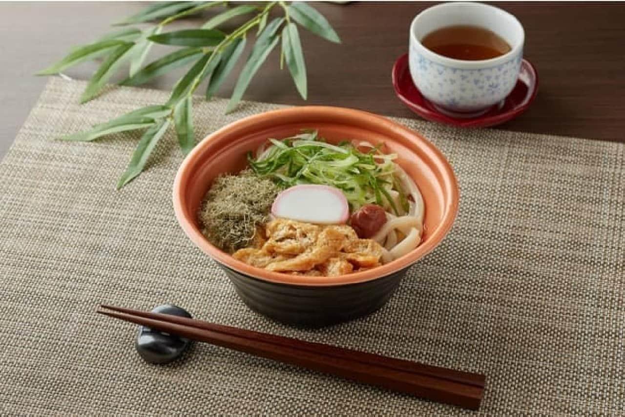ファミリーマート「梅とろろ昆布うどん(福井県産梅肉使用)」