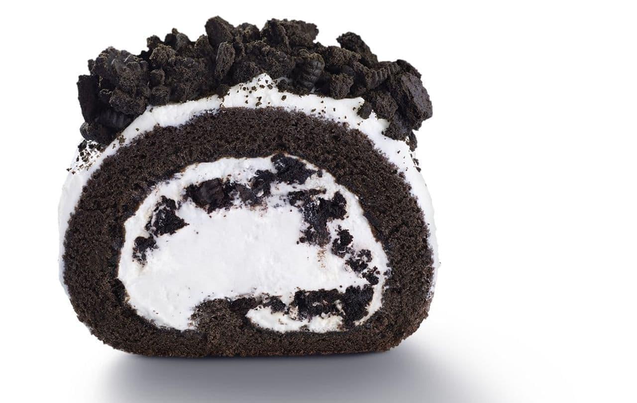マックカフェ バイ バリスタ「オレオ クッキー ロールケーキ」