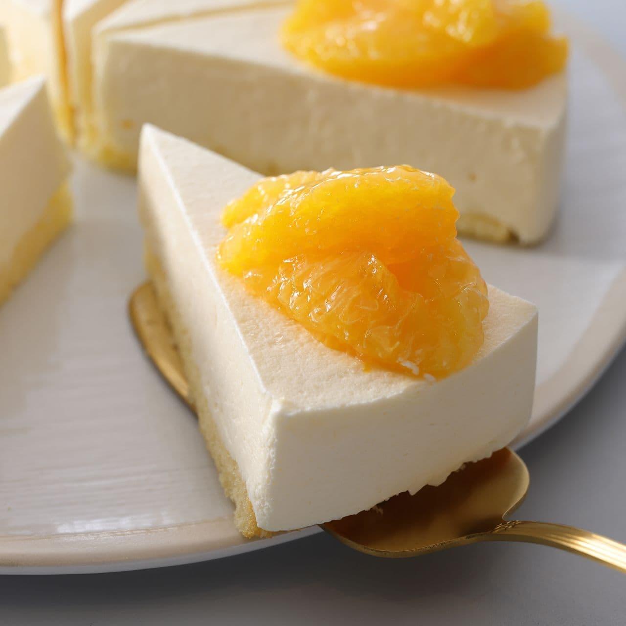 スターバックス「オレンジ&レアチーズケーキ」