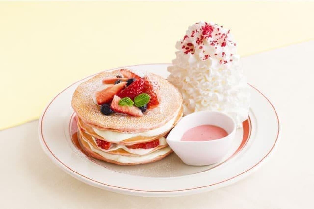 エッグスンシングス「ミルクのミルフィーユパンケーキ」