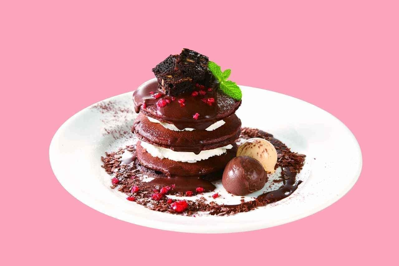 デニーズ×ゴディバ第2弾「GODIVA チョコレートパンケーキ」など