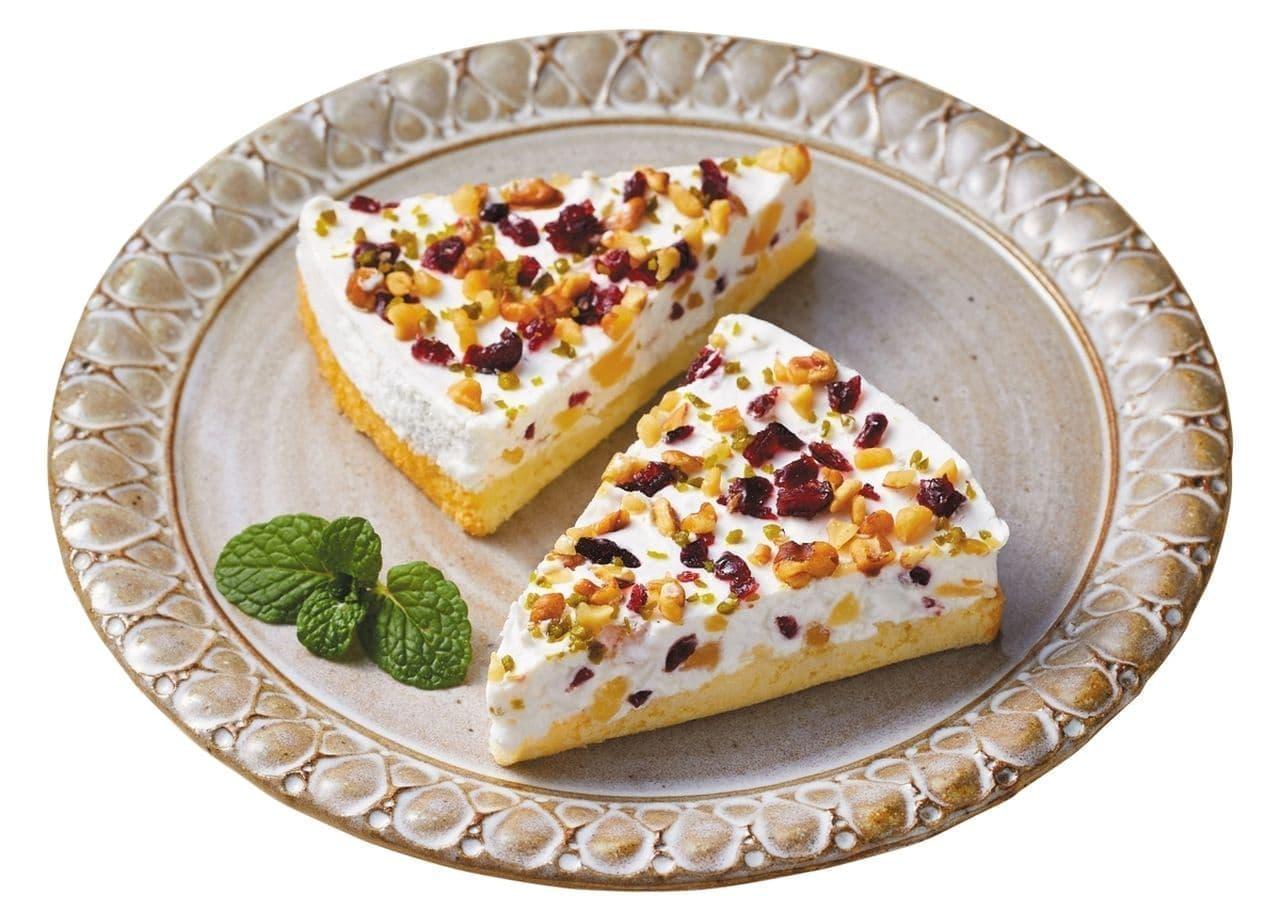 ローソン 冷凍デザート「ドライフルーツとナッツのカッサータ」