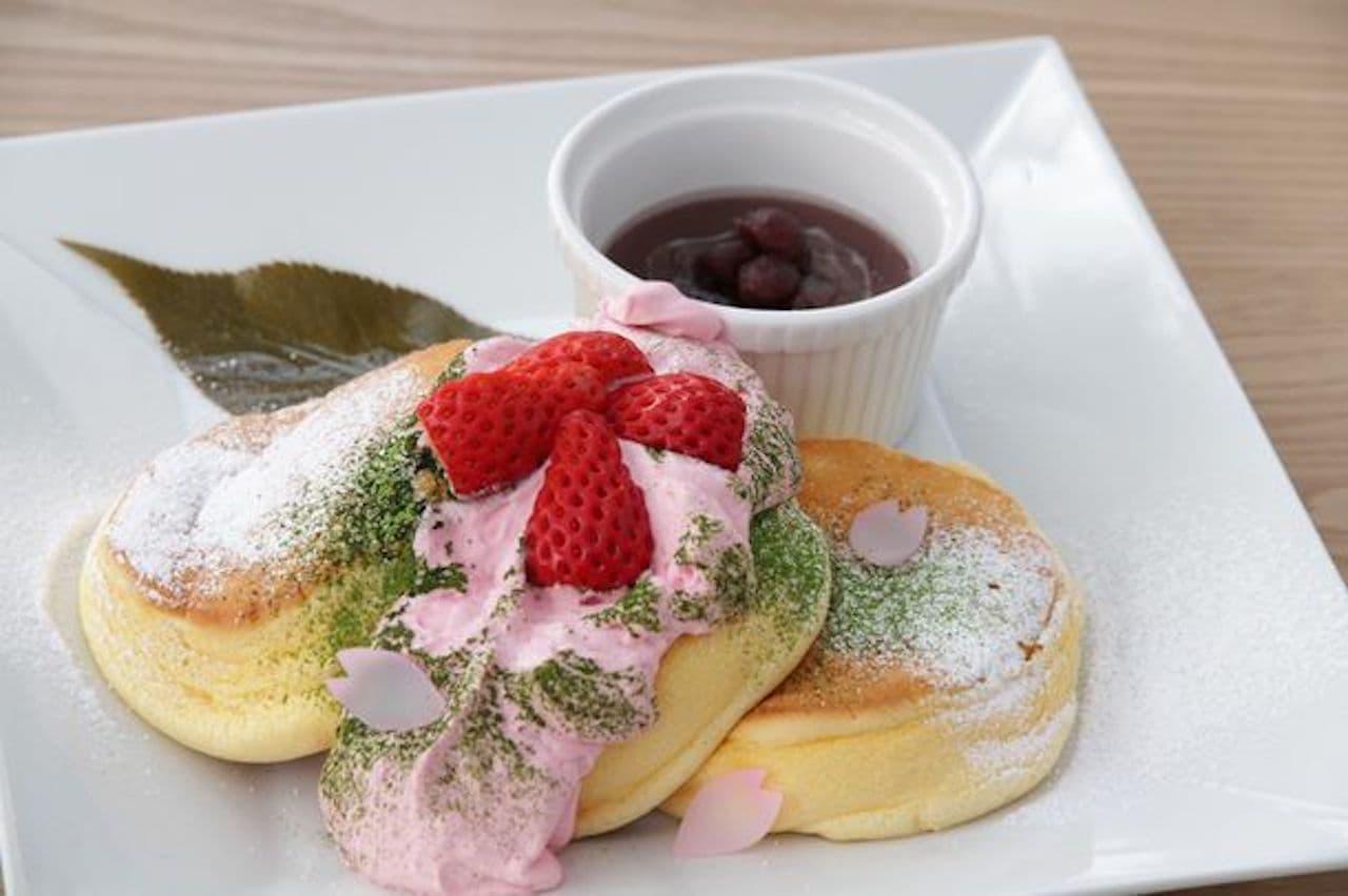 幸せのパンケーキ「幸せの桜パンケーキ」季節限定