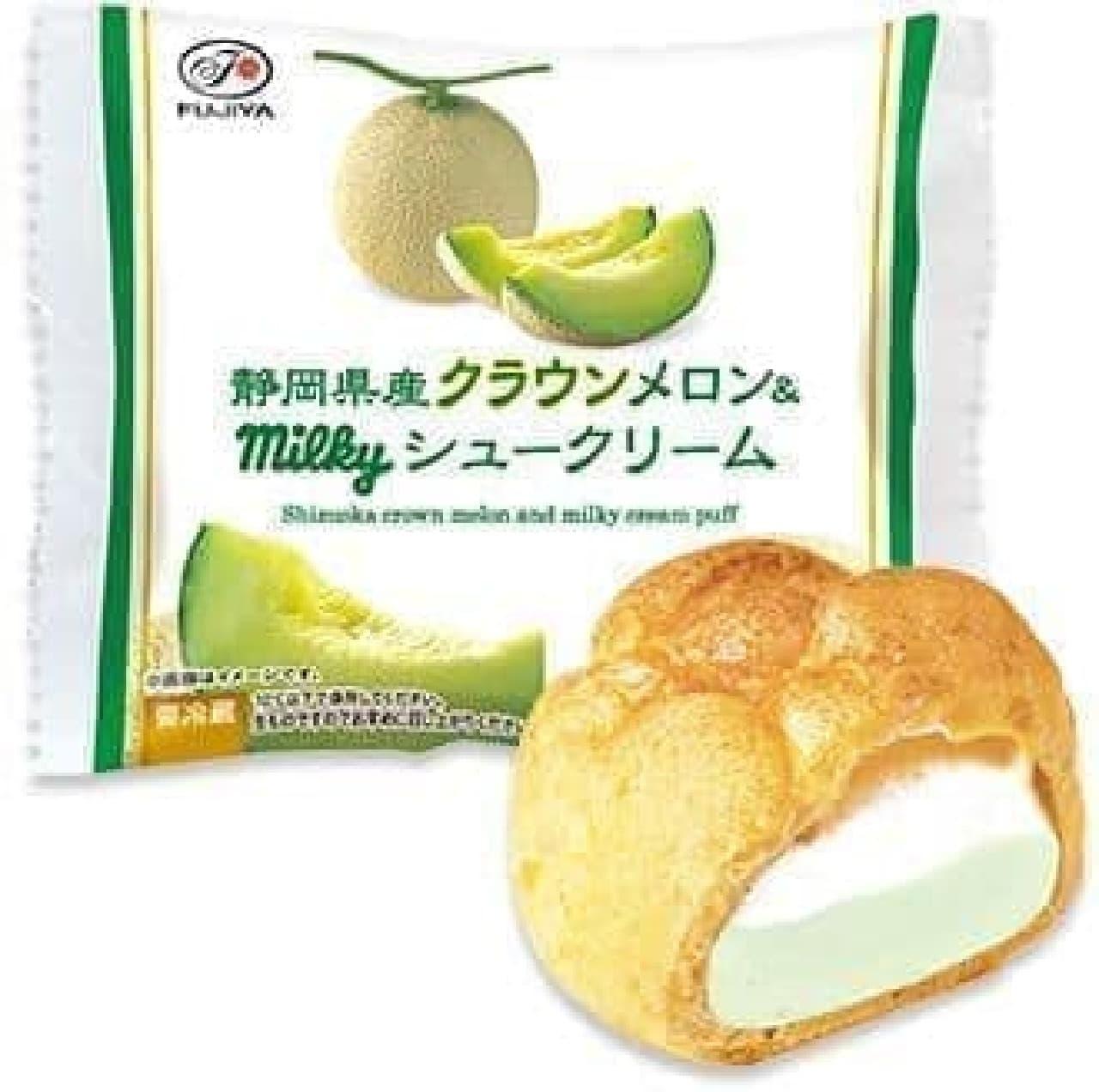 不二家洋菓子店「静岡県産クラウンメロン&ミルキーシュークリーム」