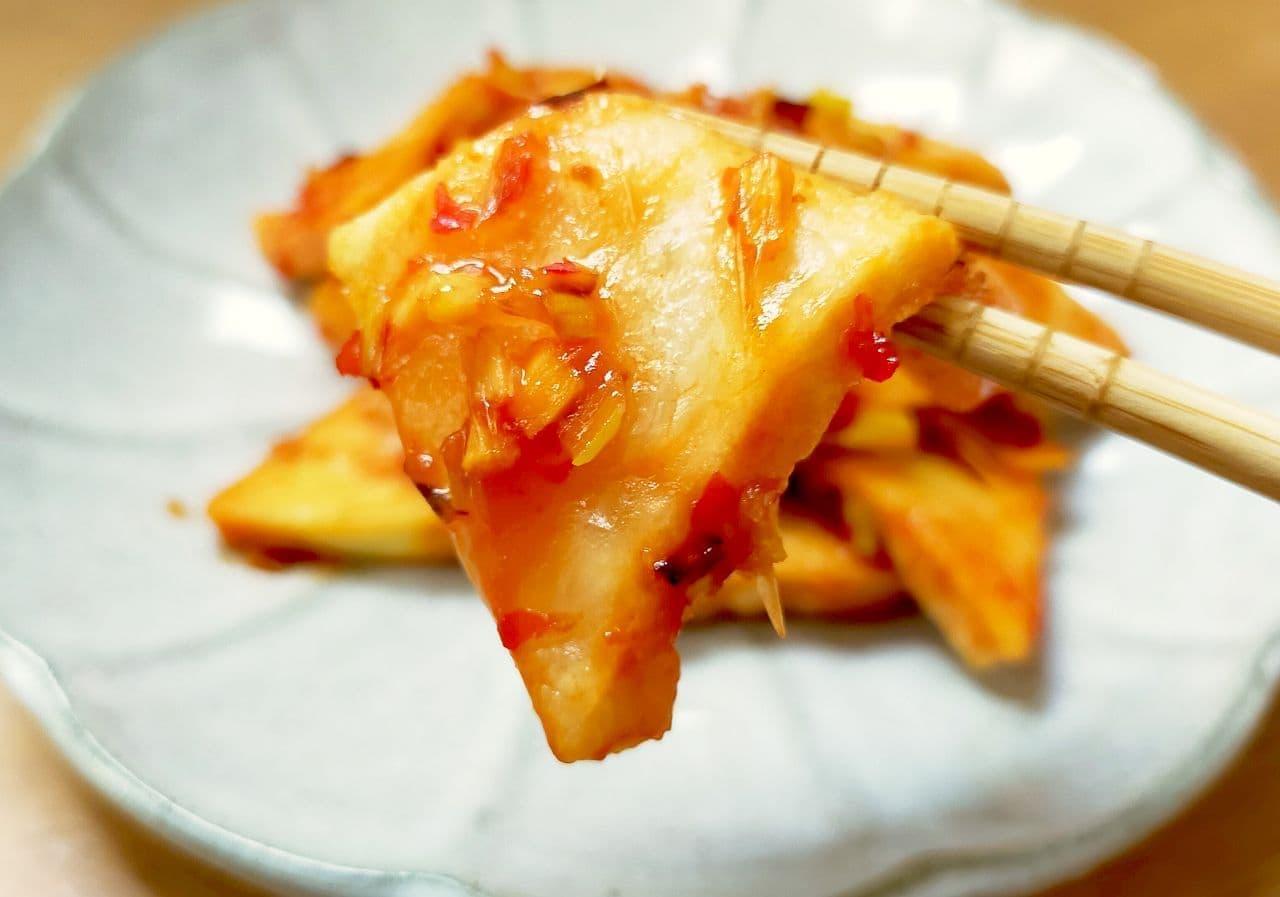 「高野豆腐のチリ炒め」レシピ