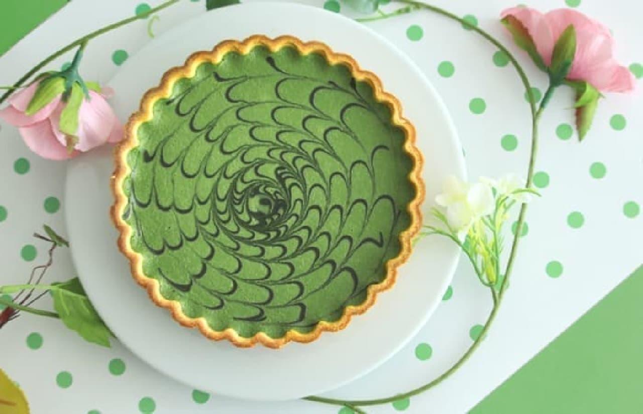 d:matcha「マーブル抹茶チョコチーズケーキ」