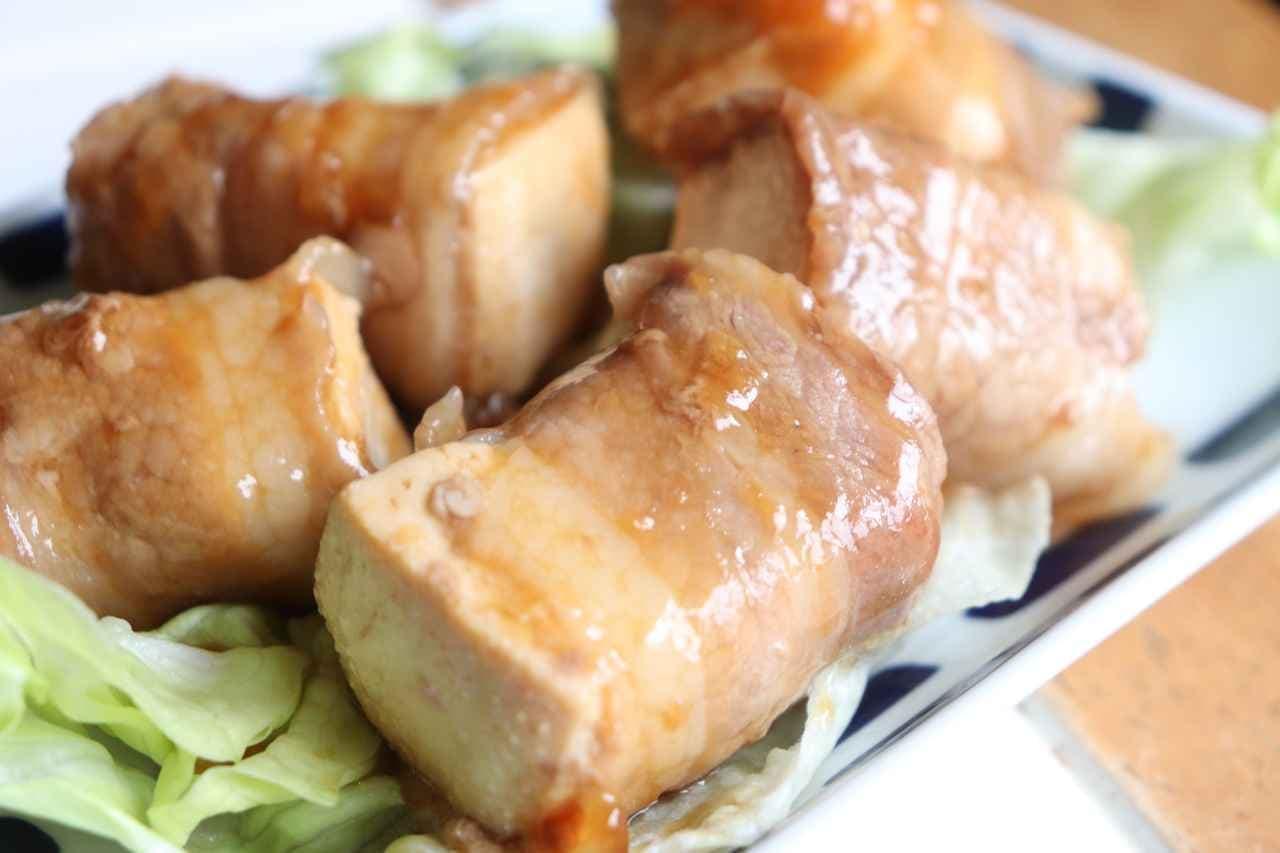 「豆腐豚バラ巻き」レシピ