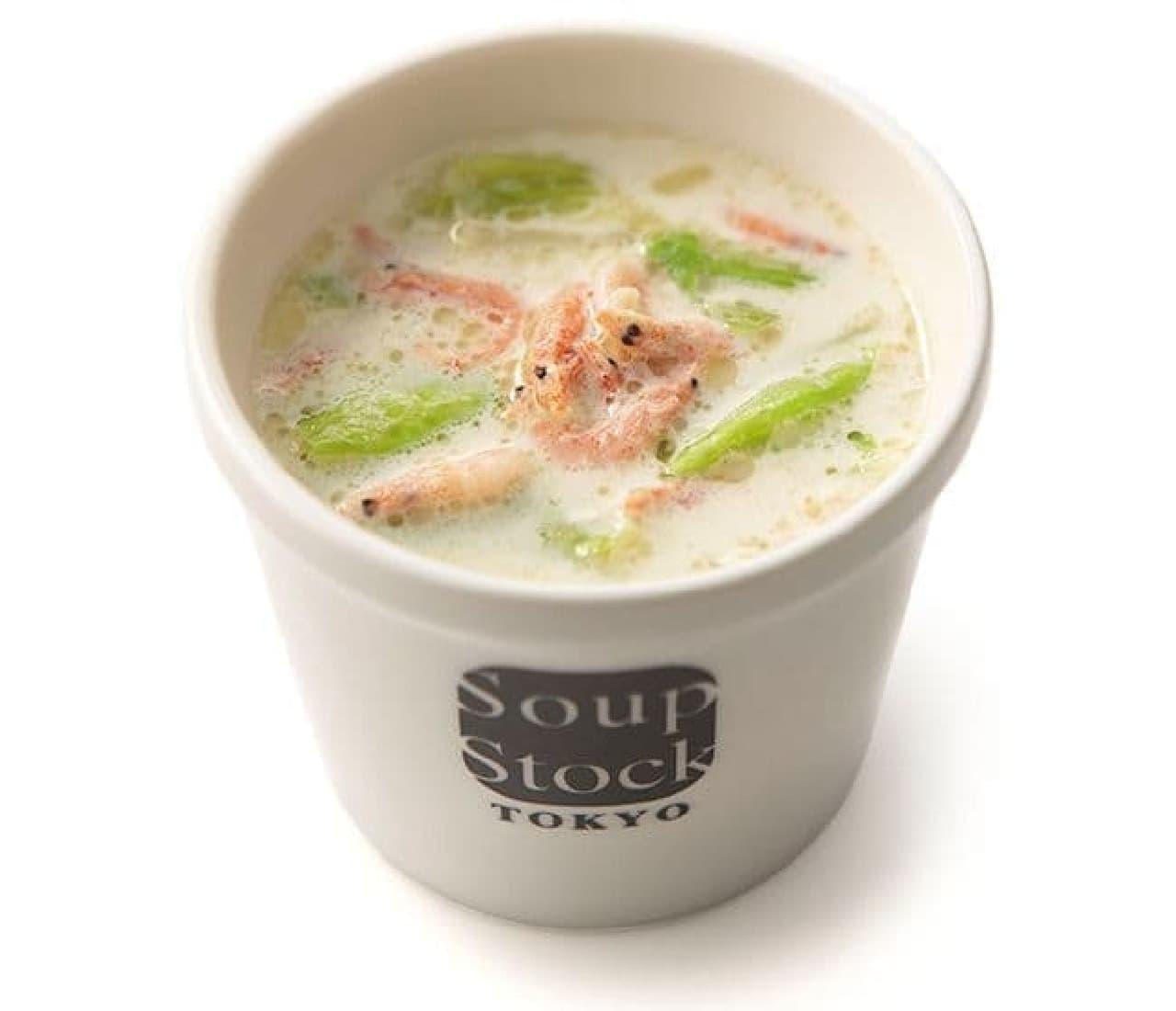 スープストックトーキョー「駿河湾産桜海老のクリームスープ」