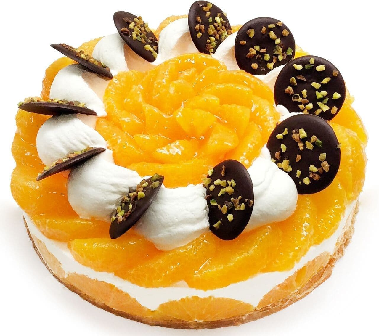 カフェコムサ「愛媛県 宇和島 西谷農園産「清見オレンジ」のレアチーズケーキ」