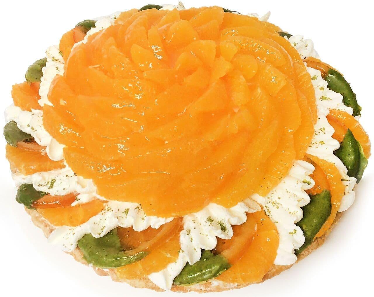 カフェコムサ「静岡県産「不知火(しらぬい)」と抹茶ホワイトチョコムースのケーキ」